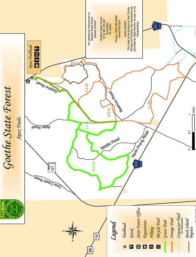 Tidewater / Apex Trails Mountain Biking Map