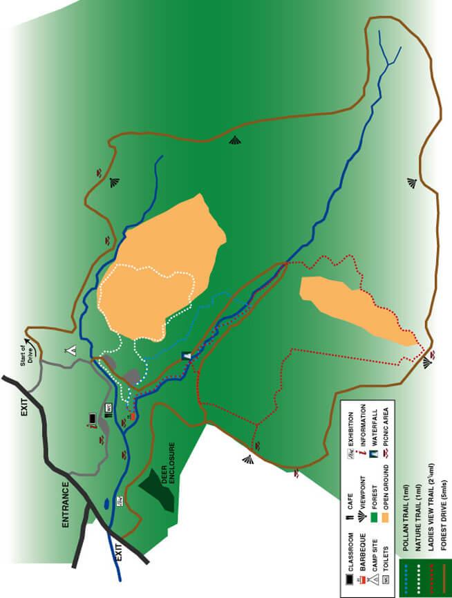 Glengowna Trails Horseback Riding Map
