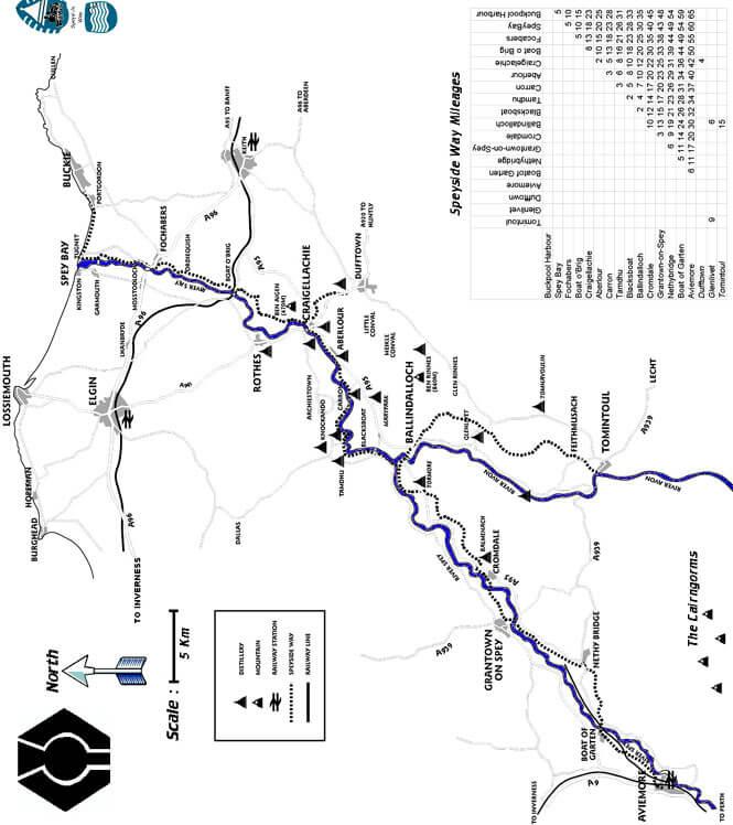 Speyside Way Mountain Biking Map