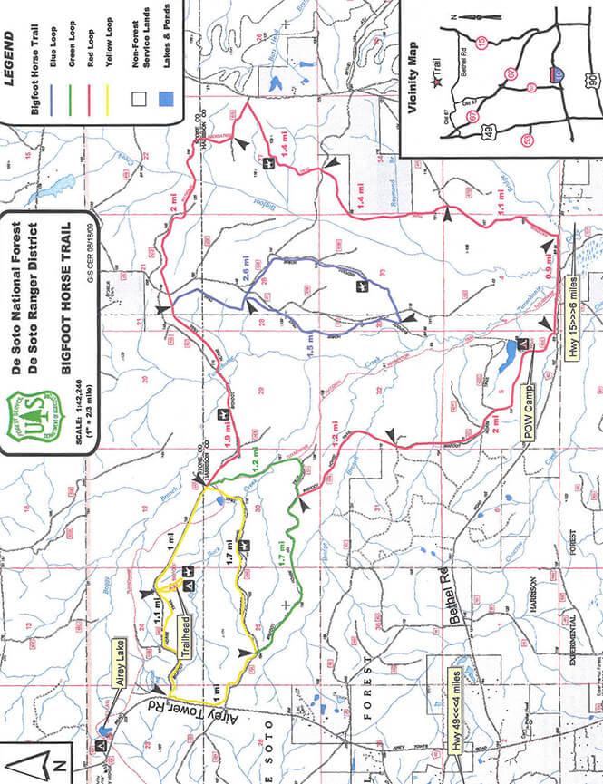 Big Foot Horse Trail Horseback Riding Map