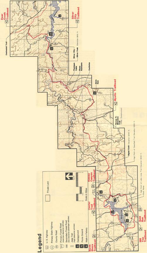 Deerfield Trail Hiking Map