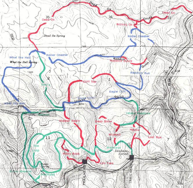 Eagle Cliff Trails Horseback Riding Map