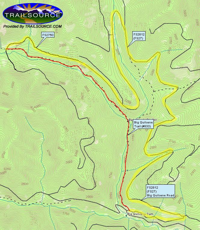 Lower Big Quilcene Trail Horseback Riding Map
