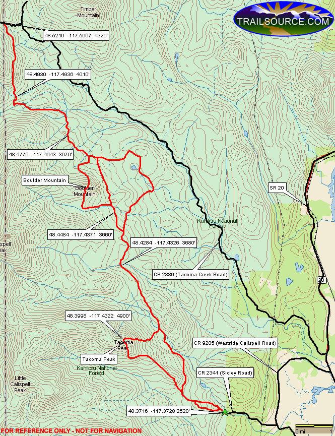 Batey-Bould ORV Area Mountain Biking Map