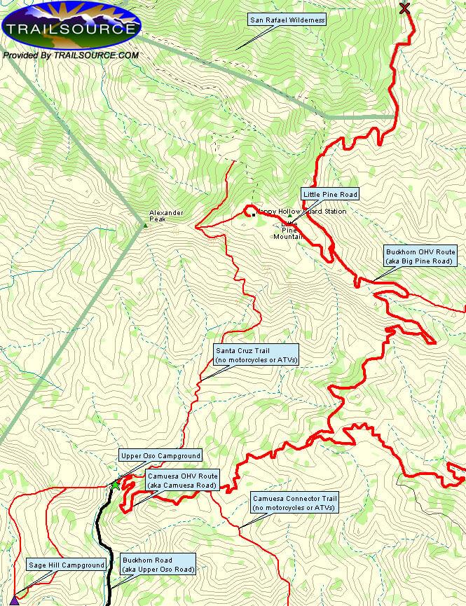 Sage Hill Horseback Riding Map