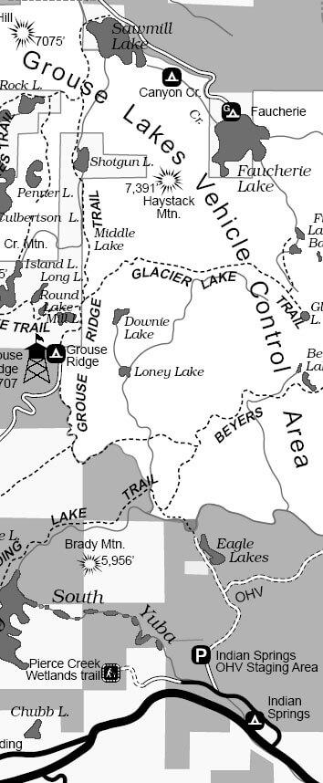 Grouse Ridge Trail Horseback Riding Map
