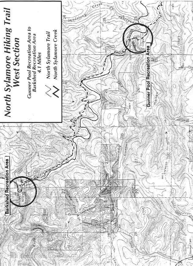 Sylamore Creek Trail - West Hiking Map