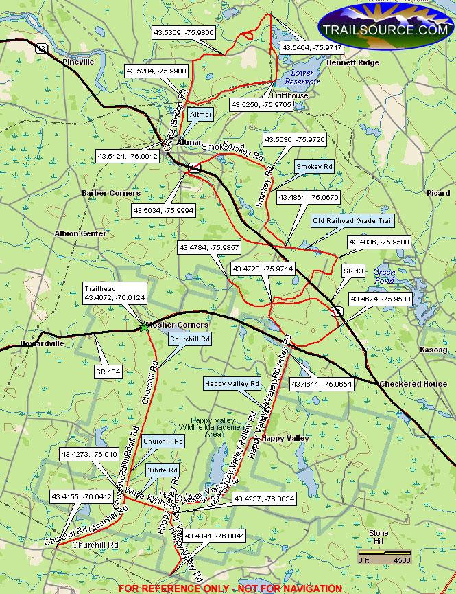 Altmar Trails ATV Trails Map