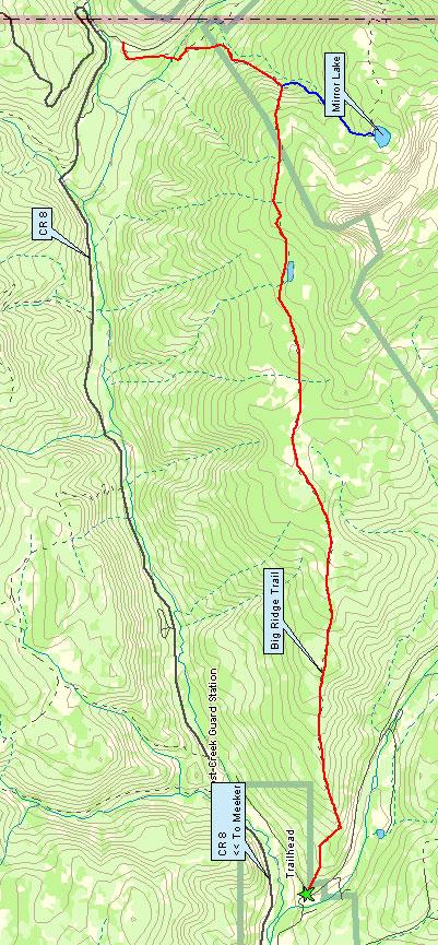 Big Ridge Trail Horseback Riding Map