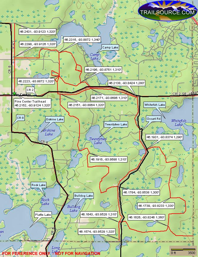 Pine Center ATV Trail ATV Trails Map