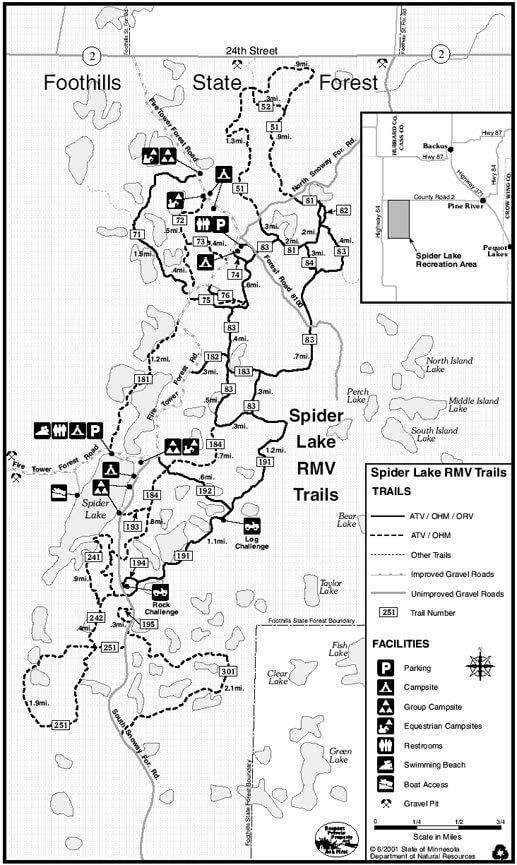 Spider Lake Trail ATV Trails Map