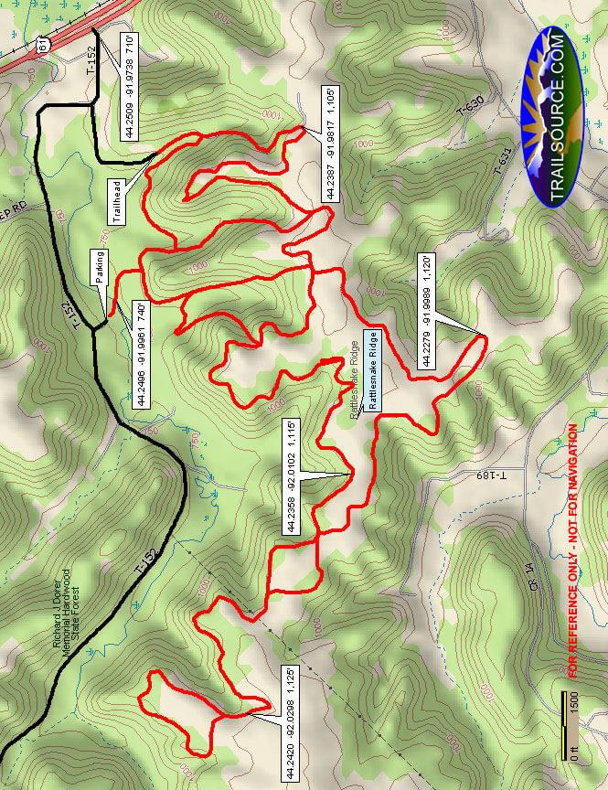 Snake Creek ATV Trails Map