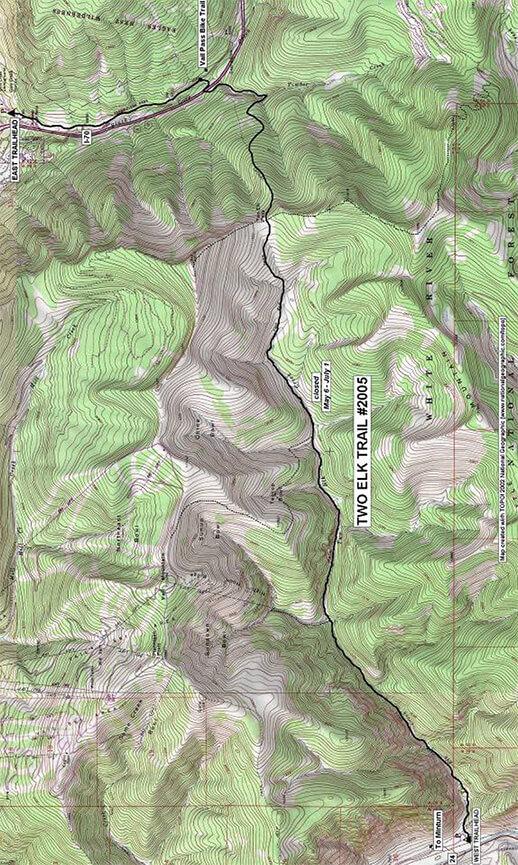 Two Elk Trail Hiking Map