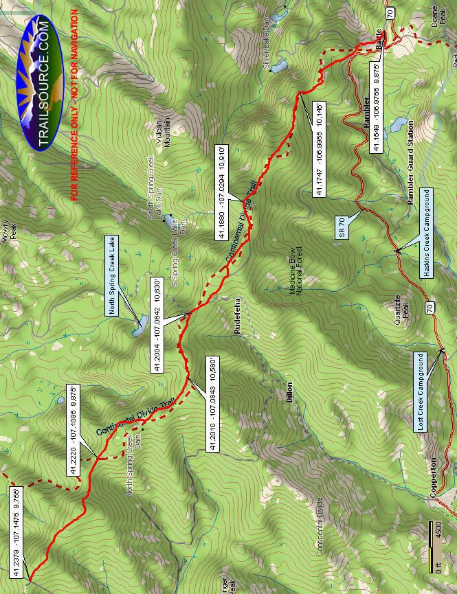 Sierra Madres - CDT ATV Trails Map