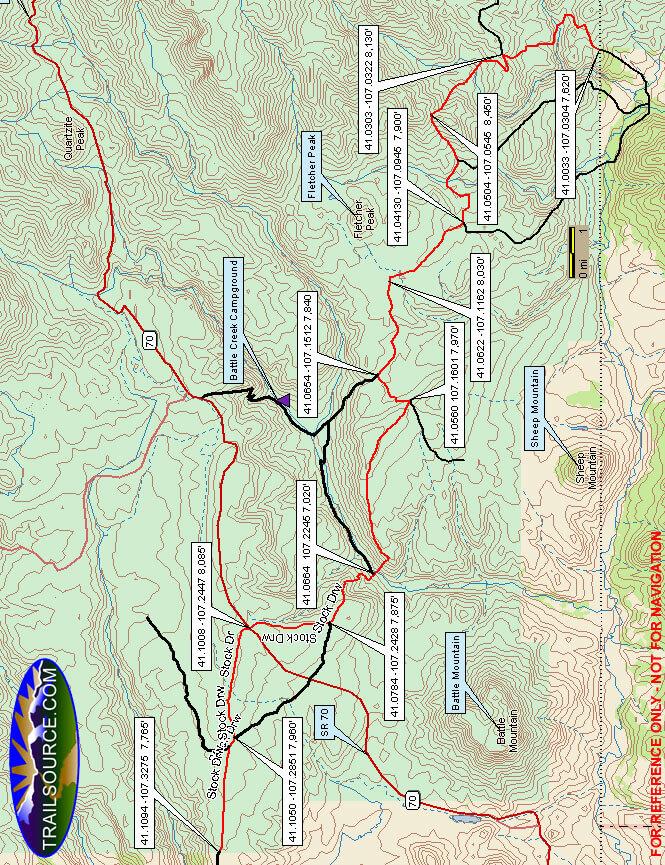 Sierra Madres - Southwest ATV Trails Map