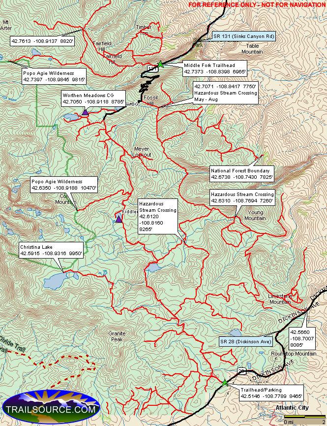 Lander ATV Trails Map