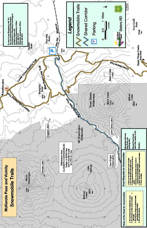 McKenzie Pass Snowmobiling Map