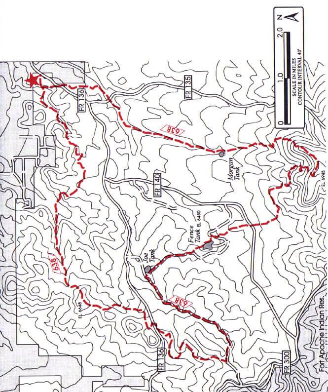 Los Caballos Loop Mountain Biking Map