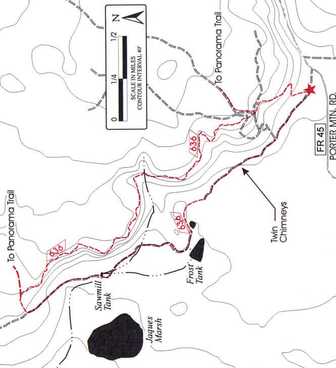 Timber Mesa Trail Mountain Biking Map
