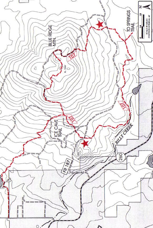 Blue Ridge Trail Hiking Map