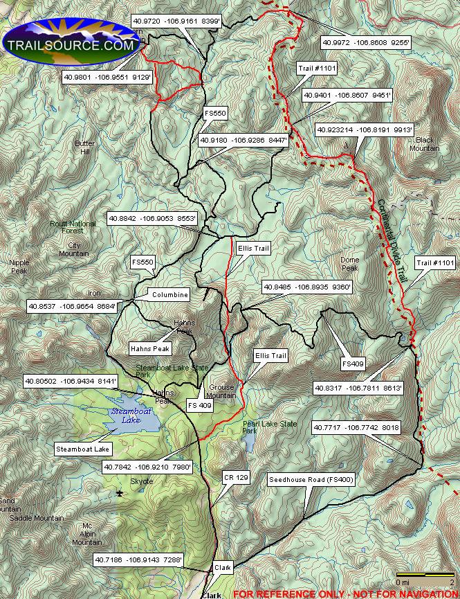 Hahns Peak Trail ATV Trails Map