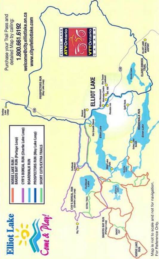 Elliot Lake ATV Trails Map