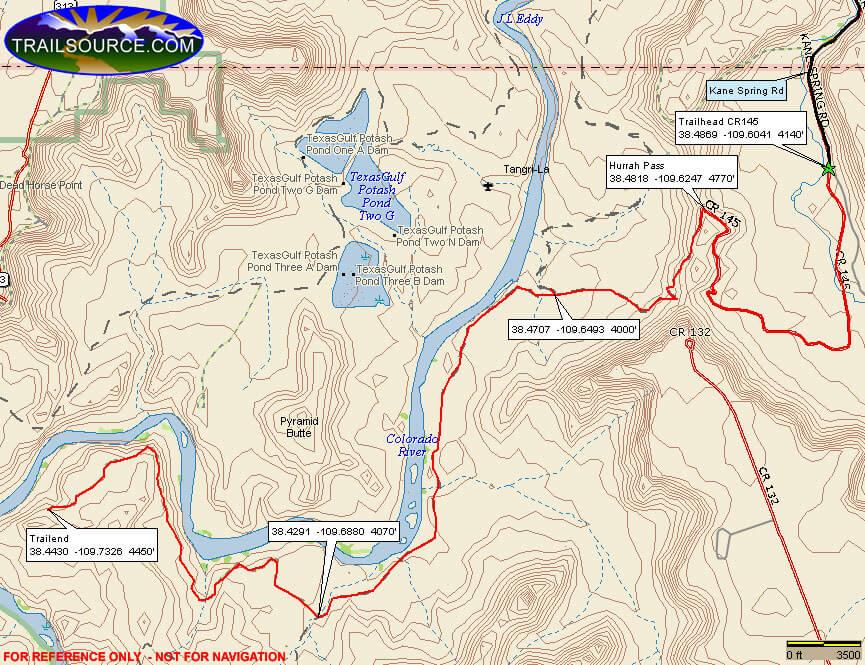 Chicken Corners Trail ATV Trails Map