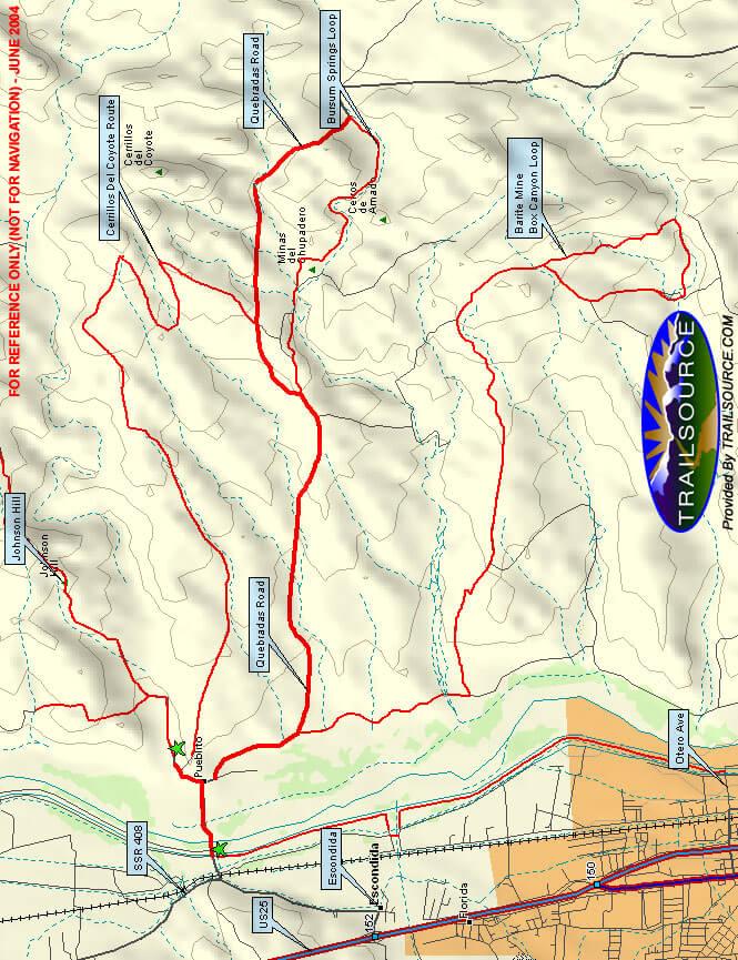 Bursum Springs Trail Mountain Biking Map