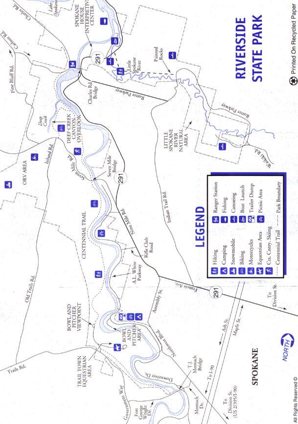 Riverside State Park Horseback Riding Map