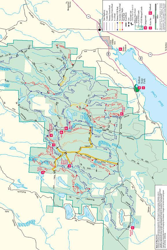 Tahuya State Forest Horseback Riding Map
