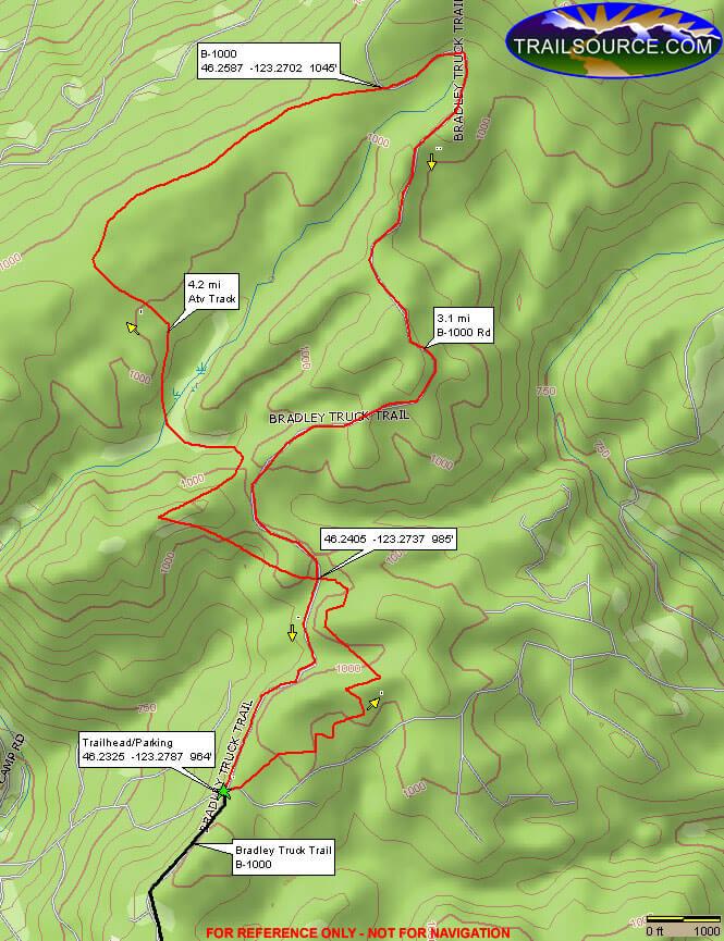 Bradley Hills Area ATV Trails Map