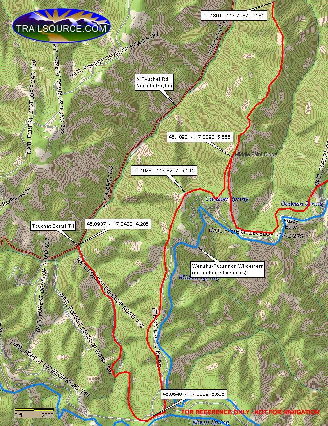 Wildcat/Cavalier Trail ATV Trails Map