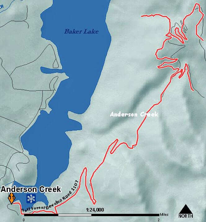 Anderson Creek SnoPark Snowmobiling Map
