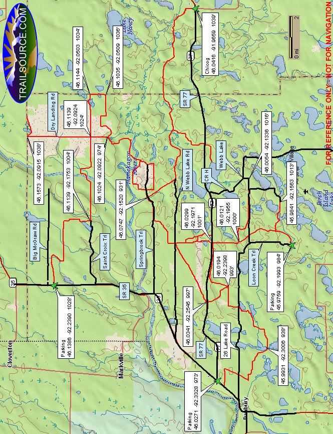 Burnett County ATV Trails Map