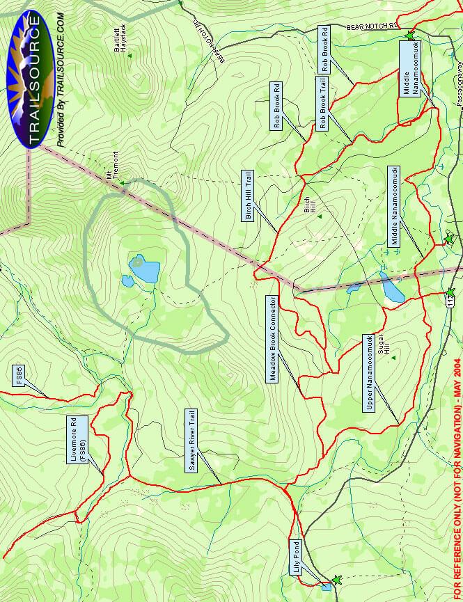 Rob Brook Trails Mountain Biking Map