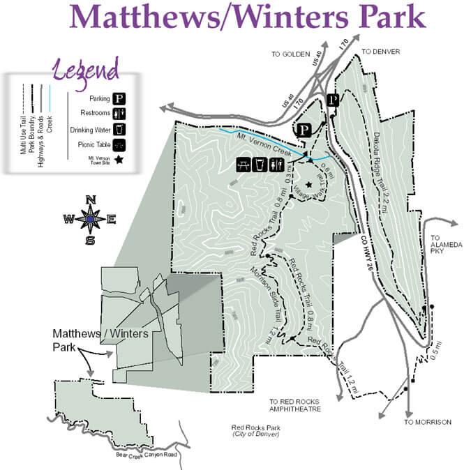 Red Rocks / Dakota Ridge Trails Mountain Biking Map