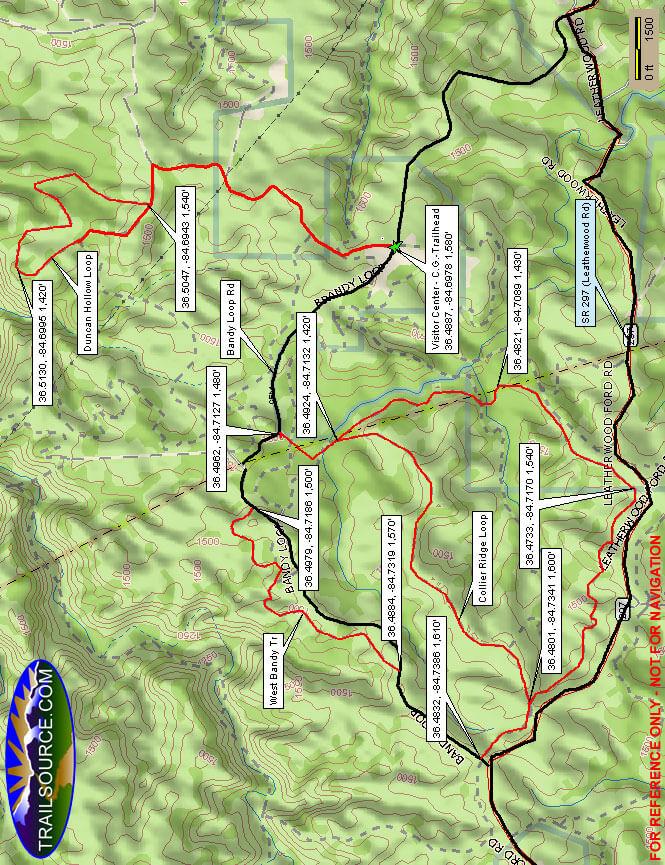 Bandy Creek Horseback Riding Map