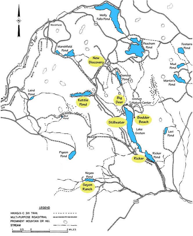 Wells River Trail Hiking Map