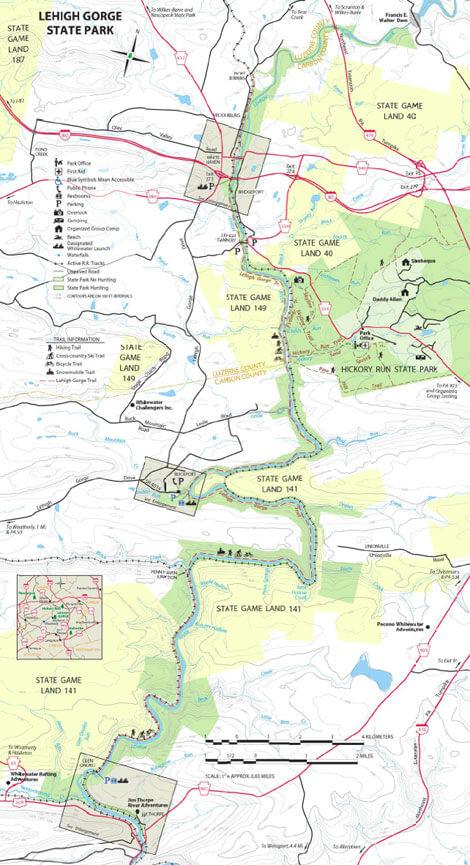 Glen Onoco / Broad Mountain Loop Hiking Map