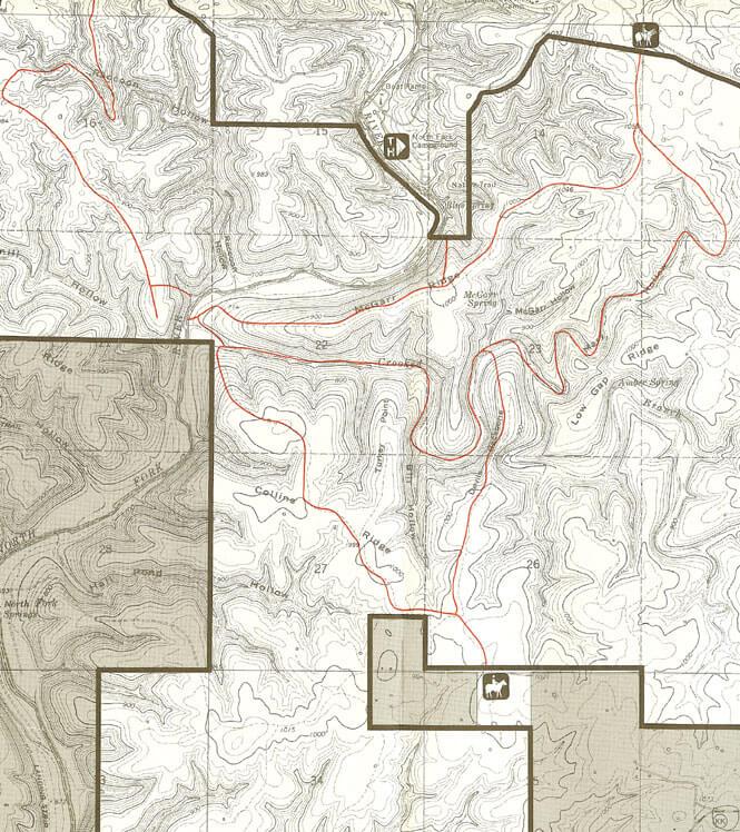 Devils Backbone Trail Horseback Riding Map