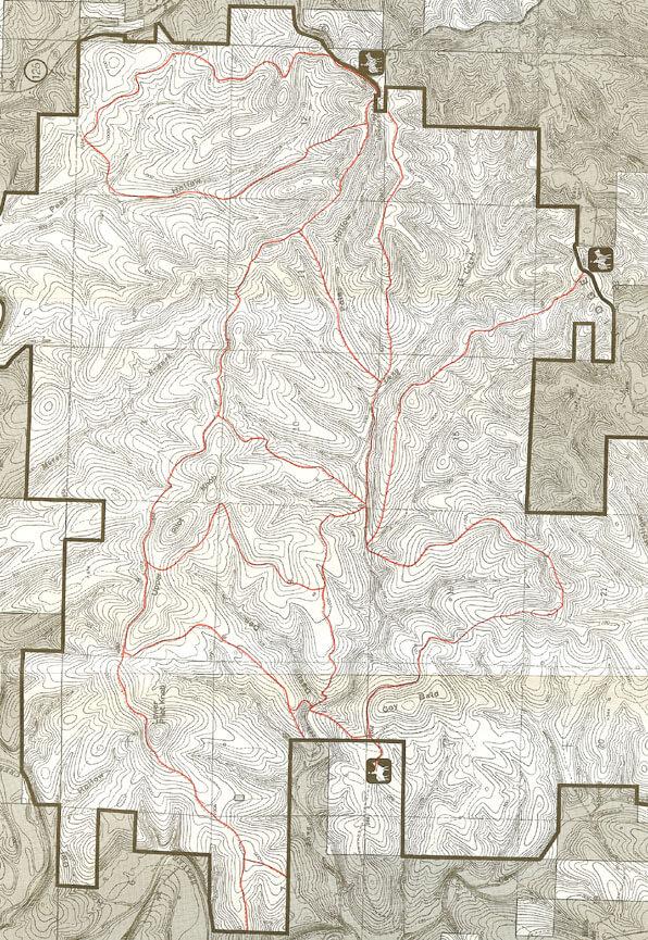 Hercules Glade Trail Horseback Riding Map