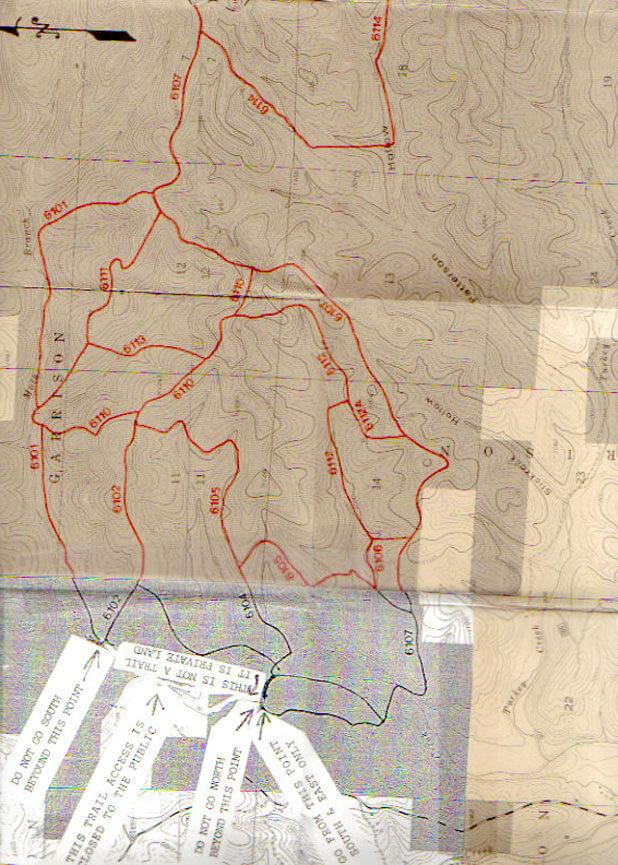 Swan Creek Trail Mountain Biking Map