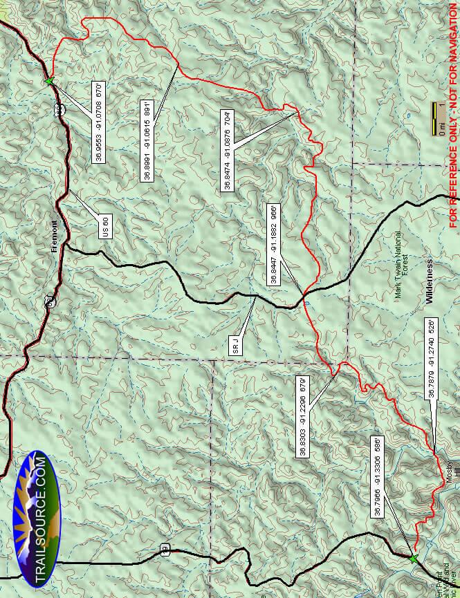 Between The Rivers Mountain Biking Map