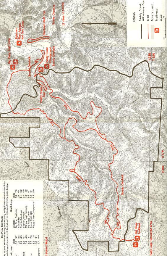 Big Piney Trail Hiking Map