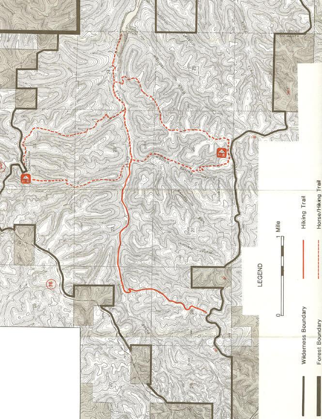 Piney Creek Trail Horseback Riding Map