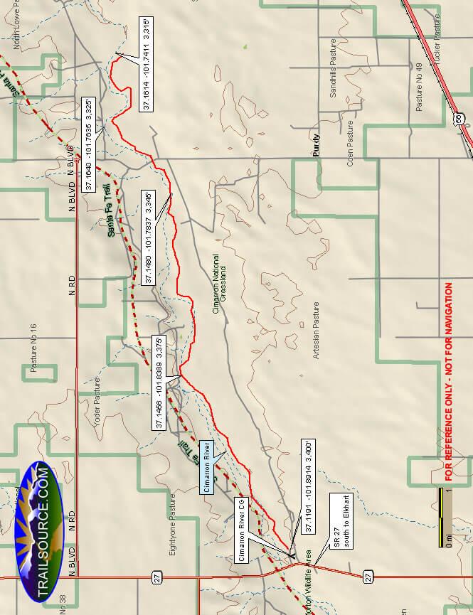 Cimarron National Grasslands ATV Trails Map