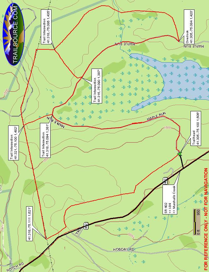 Maple Run Tract ATV Trail ATV Trails Map