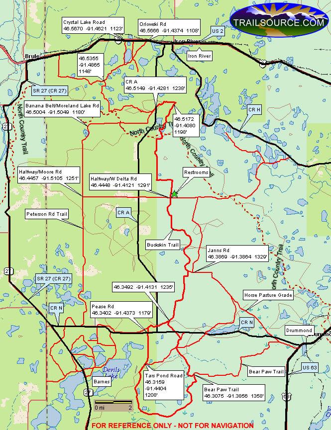Buckskin Trail ATV Trails Map