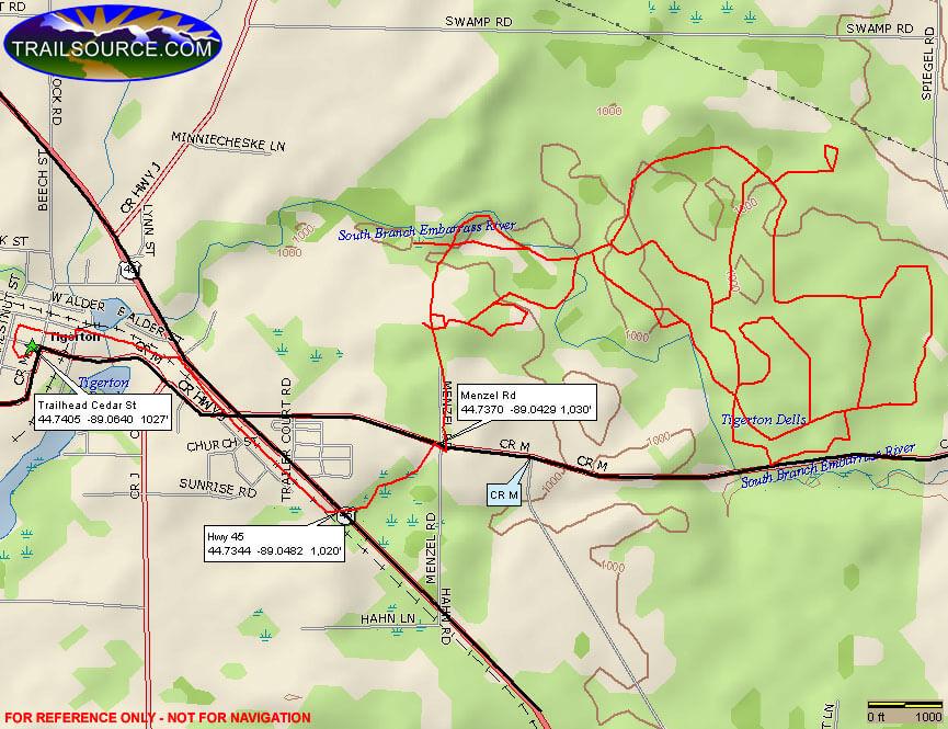 Embarrass River Park ATV Trails Map