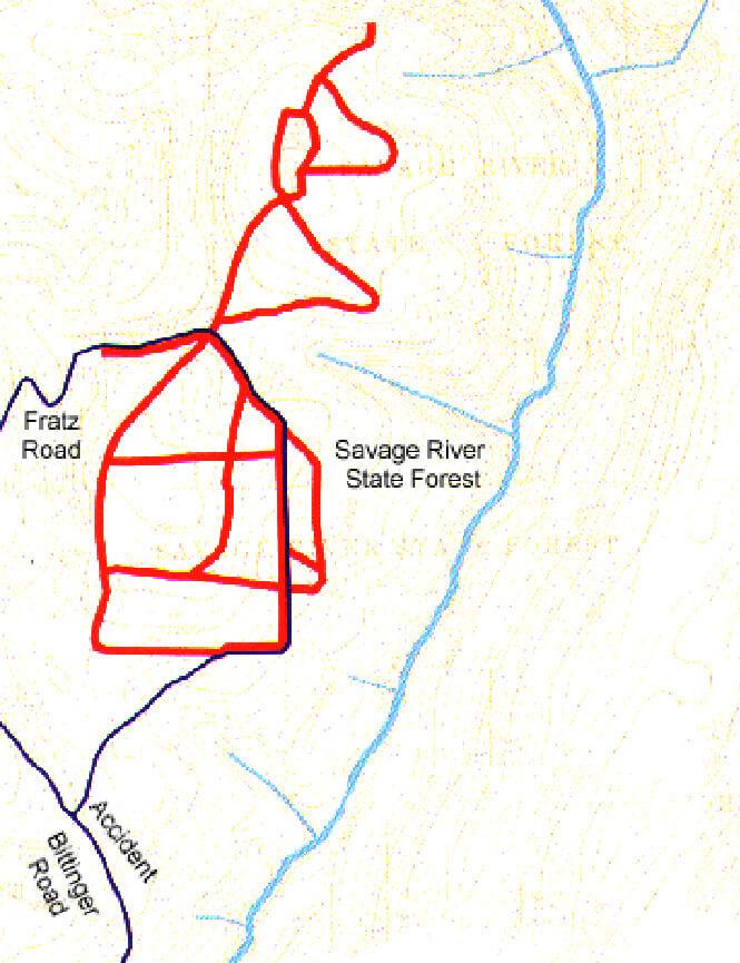 Margraff Plantation Trail Mountain Biking Map